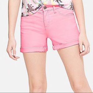 NWOT Pink Denim Jeans Shorts  10 Slim